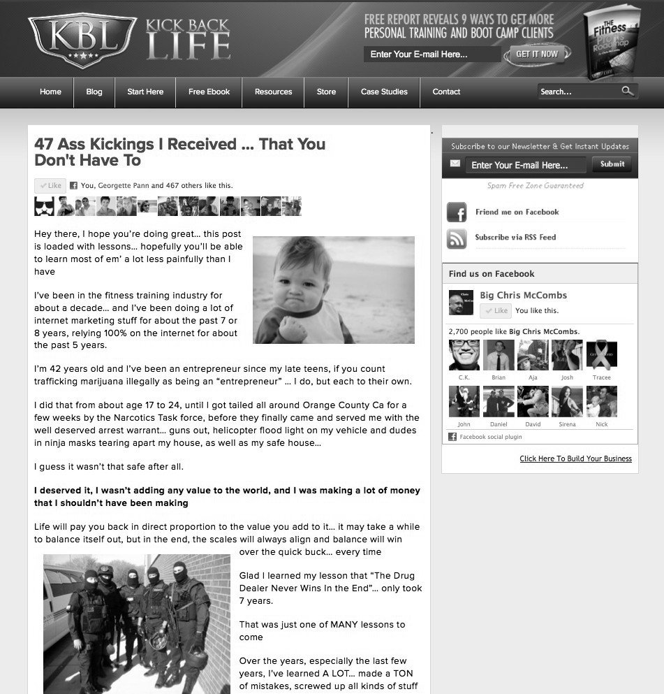 Kick Back Life Website