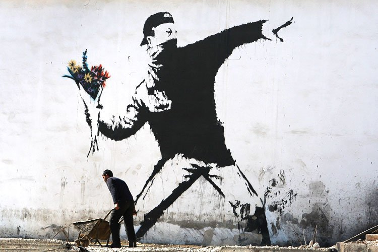Banksy Flowers