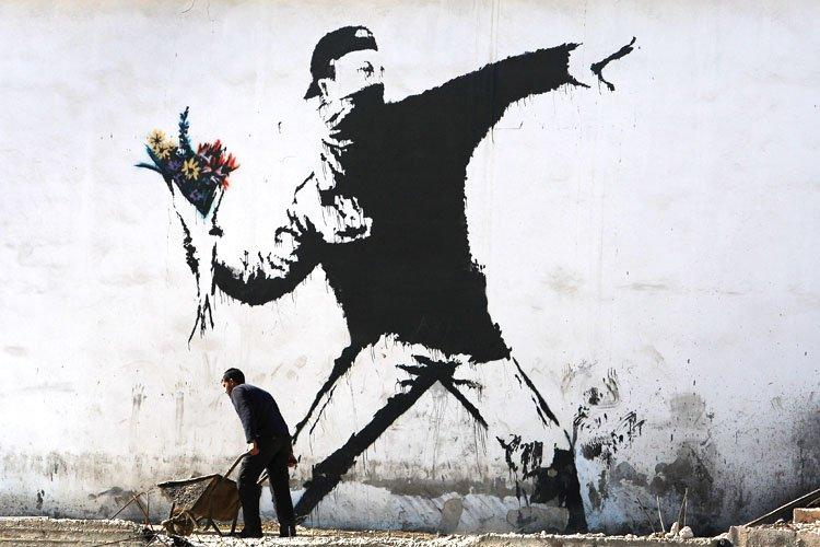 Banksy Flowers