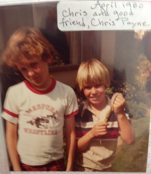 Me (left) and Chris Payne (right) at age 10 with a gopher snake - we were snake freaks